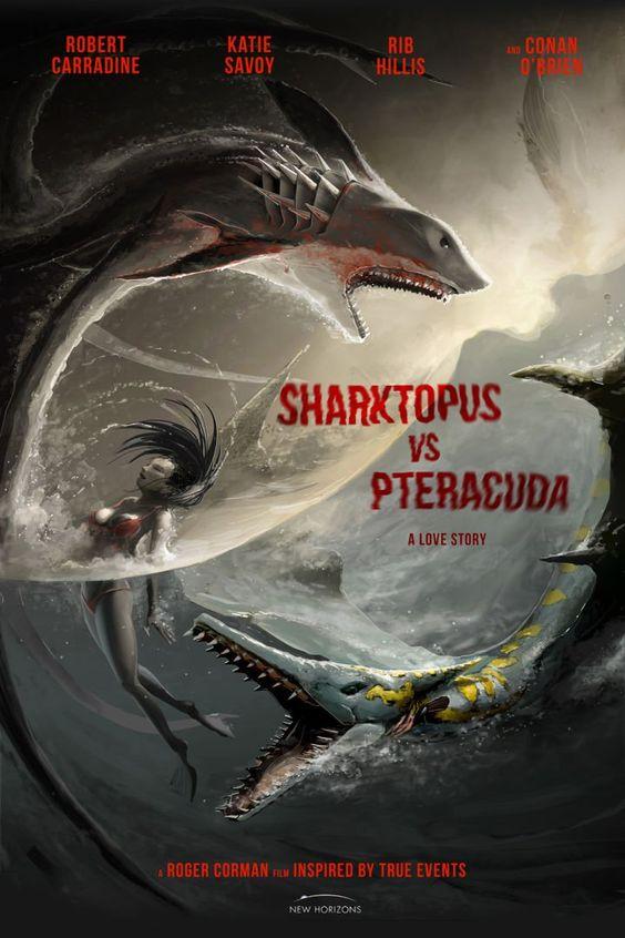 Syfy's Sharktopus vs. Pteracuda Movie Poster Reveal