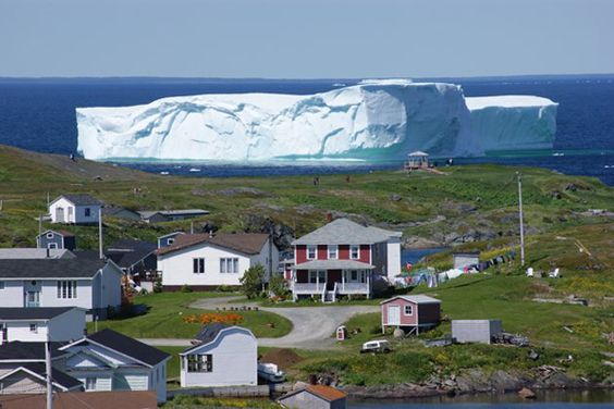 """This would be quite a sight to see--""""Iceberg Alley"""", Goose Cove, Newfoundland."""
