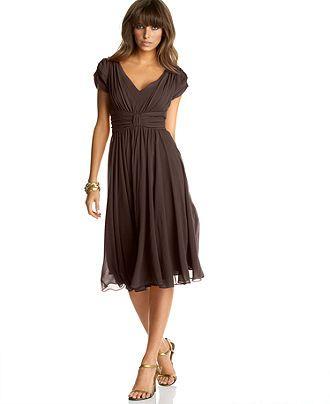 Suzi Chin Dress Chiffon Empire Waist Womens Dresses