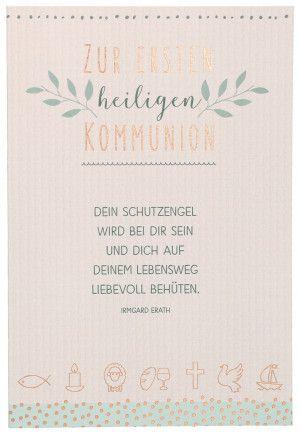 Glückwunschkarte Zur Ersten Heiligen Kommunion Karten