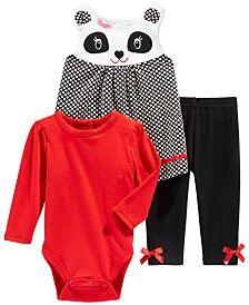 Nannette Baby Girls' 3-Piece Jumper, Bodysuit & Pants Set