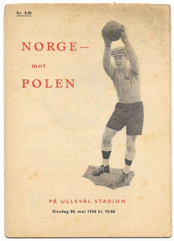 Norway v Poland, 1955/56 - Friendly International Football Programme. in Sports Memorabilia, Football Programmes, International Fixtures | eBay