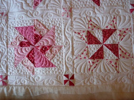 pink feather quilt wall - photo #11