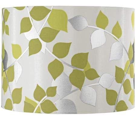 Satin Cream Metallic Leaves Lamp Shade 12x12x9 (Spider) | 55DowningStreet.com
