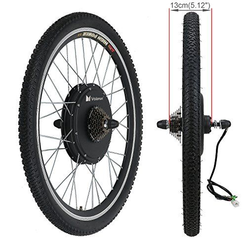 Voilamart Electric Bicycle Kit 26 Rear Wheel 48v 1000w E Bike