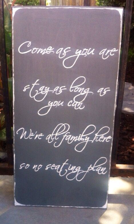 """Hand Painted """"No Seating Plan"""" Wooden Sign on Etsy, $28.00"""
