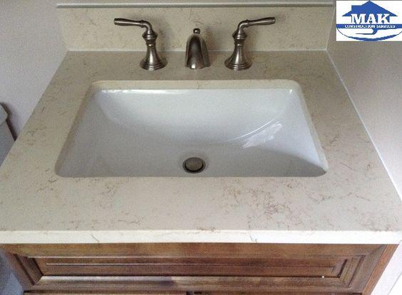 Master Bath Sink- Allen + Roth Eagle Giallo Quartz Undermount Sink ...