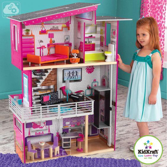 Domek dla lalek KidKraft Luxurious Beverly Hills 65871   Zabawki  Domki dla lalek  
