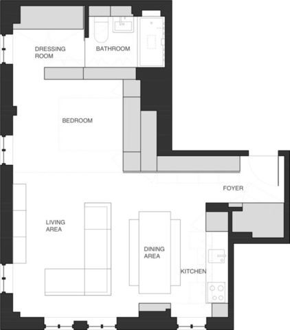 This Was An Amazing Use Of Space In A 650 Sq Ft Apartment