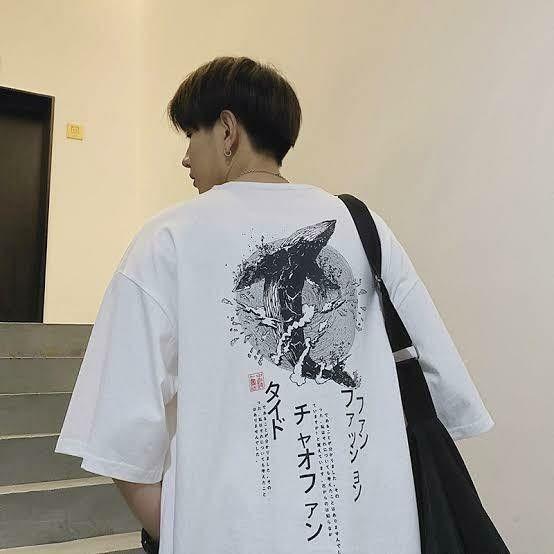 Kaos Motiv Jepang Whale Summer Kaos