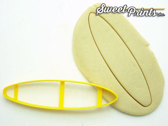 Surf Board Cookie/Fondant Cutter http://www.sweetprintsinc.com/collections/summertime-fun/products/surf-board-cookie-fondant-cutter