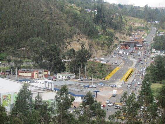 The Rumichaca bridge is the most popular border crossing between Colombia and Ecuador.