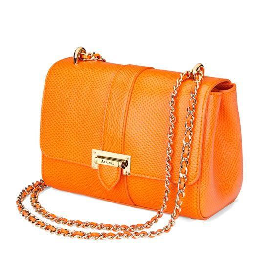 Lottie Bag in Orange Lizard from Aspinal of London