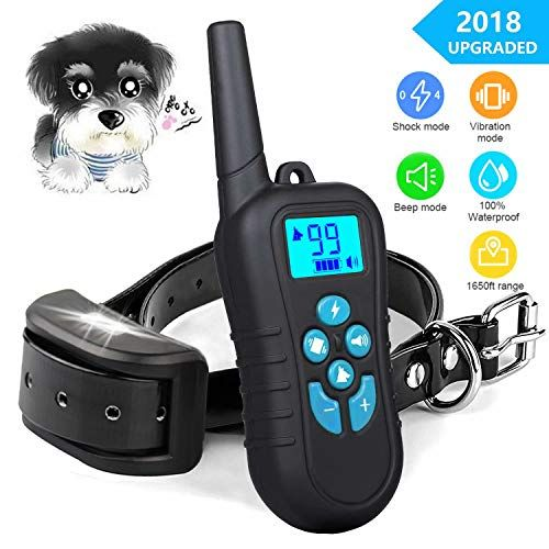 Shock Collar For Dogs Dog Training Collar With 1650ft Remote