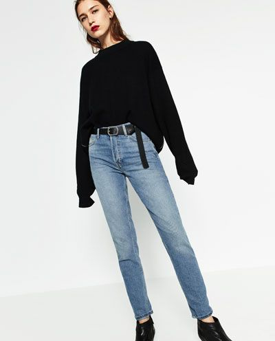 Image 6 of STRAIGHT CUT HIGH WAIST JEANS from Zara