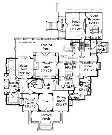 Home plans homepw09878 5 814 square feet 4 bedroom 5 for 3 bedroom floor plans with bonus room