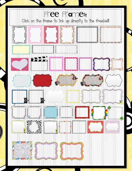FREE Free Frames Linky! ....Follow for Free 'too-neat-not-to-keep' teaching tools & other fun stuff :)