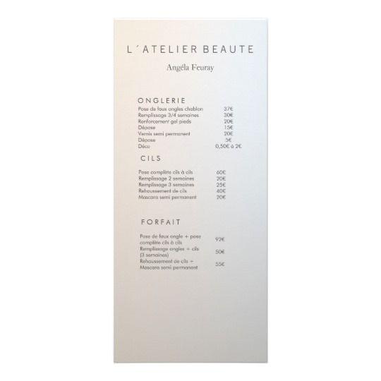 Modern Minimalist Salon Price List Service Menu 25 Cards Salon