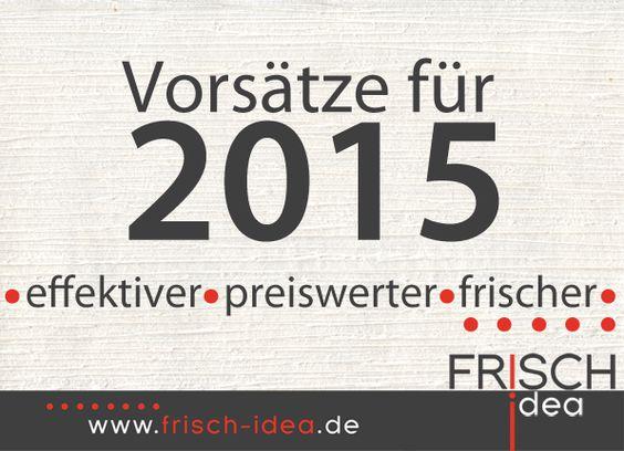 Vorsätze für 2015