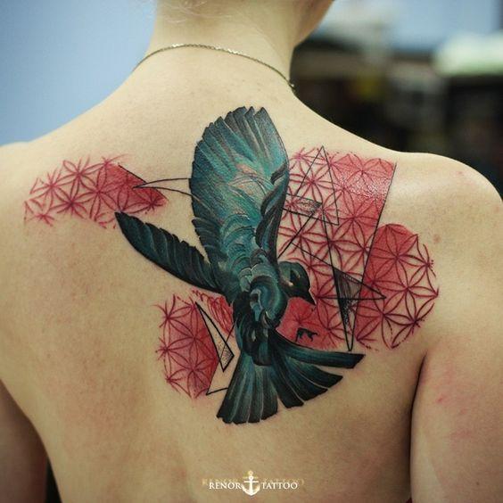 Back pieces, Bird tattoos and Birds on Pinterest