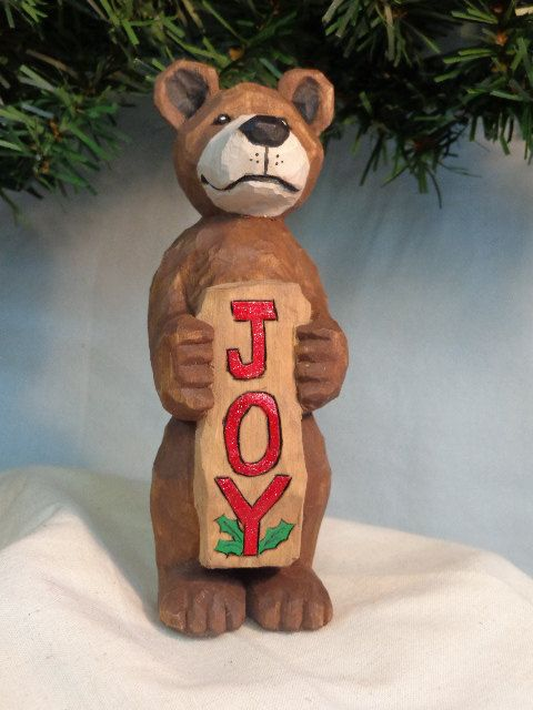 Bears, Ornaments and Wood sculpture on Pinterest