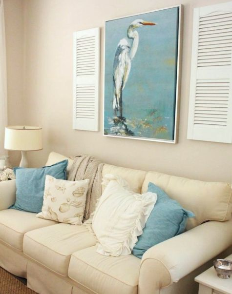 Coastal Decorating with Shutters | Coastal Wall Art & Decor ...