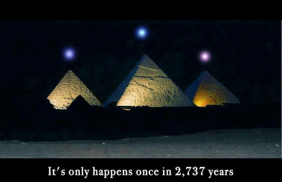 Planetary alignment that will take place Dec 3, 2012 is dead-on alignment with the Pyramids at Giza.  PLANETS INLINE: MERCURY / VENUS / SATURN