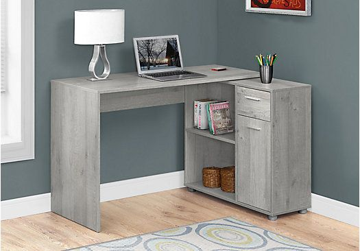 Pin By Kyle Parramore On Furniture Grey Desk Desk Storage Cheap Office Furniture
