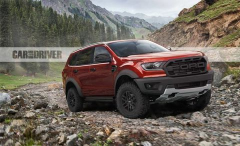 Potential Ford Everest Raptor Could Pave The Way For A Bronco Raptor Ford Endeavour Suv Car Ford