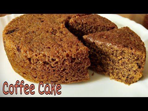 Spongy Eggless Coffee Cake In Cooker No Cocoa Powder No Condensed Milk No Baking Soda Youtube In 2020 Coffee Cake Cake Baking Recipes Eggless Cake Recipe