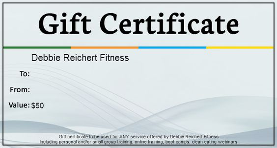 Personal Training Gift Certificate Template - Fiveoutsiders