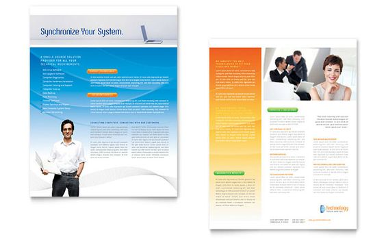 Marketing Consulting Group - Flyer Template Design Sample Sales - microsoft brochure template