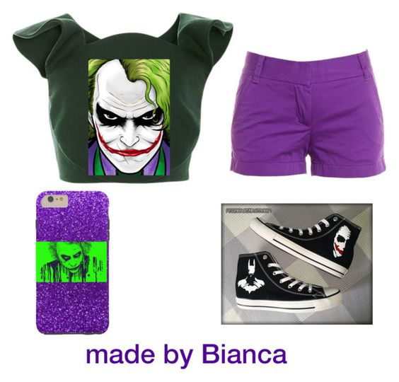 """joker inspired"" by bianca190 ❤ liked on Polyvore featuring Delpozo, J.Crew and Converse"