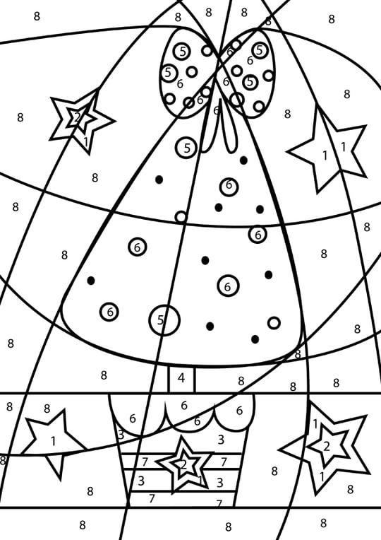 Coloriage Magique Grand Sapin De No Euml L Coloriage Magique Noel Coloriage Magique Coloriage Noel