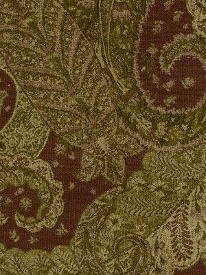 Beacon Hill Fabric 125718 Lush Paisley Tarragon