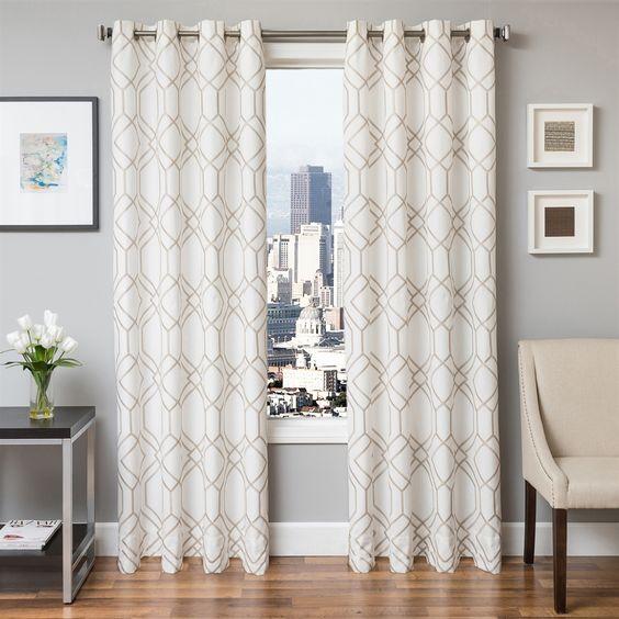 Curtains Ideas best curtain stores : Shop Softline Home Fashions 933QIN Quartz Grommet Curtain Panel at ...