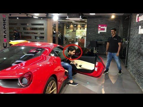 Actor Naga Chaitanya Arriving In His Ferrari Ceramic Pro India Hyderabad India Youtube Ferrari India Actors
