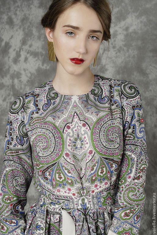 Купить Платье из павловопосадского платка, платье в русском стиле - платье, платья, платья 2015