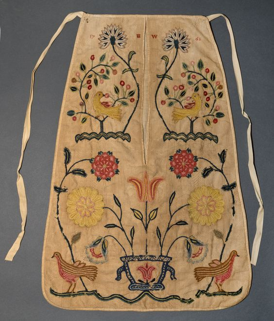 I think I've seen this one in person! Just went to Winterthur last year. Pocket, American, ca. 1780-1840 Winterthur Museum