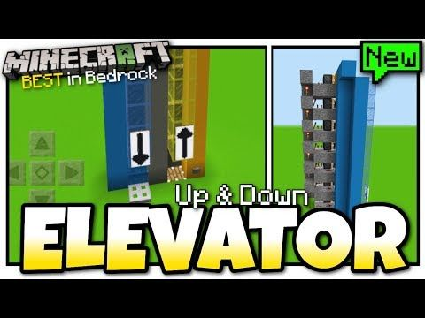 How To Make Pixel Art In Minecraft Bedrock Minecraft Elevator Easy Up Down Redstone Tutorial Mcpe Xbox Bedrock Youtube Minecraft Elevator Bedrock Minecraft