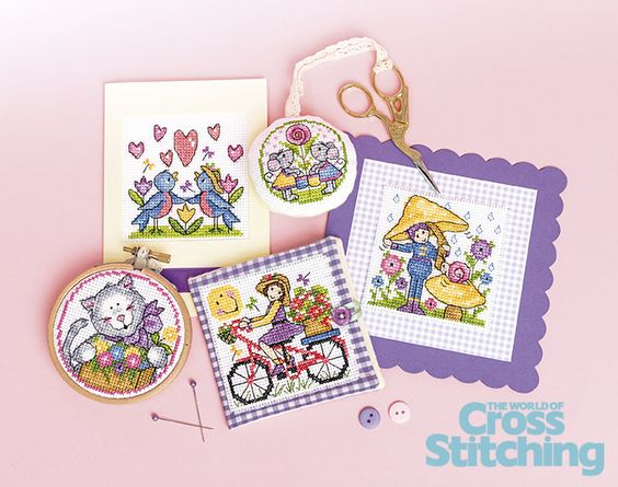 https://flic.kr/p/qsMkRR | Design Library collection – Springtime sweeties, cross stitch | Quick to make and easy to stitch! These contemporary designs from top designer Joan Elliott will be a great collectable set to use for cards and gifts so check out the Design Library of 41 motifs, in The World of Cross Stitching issue, 225. Lots of stitching possibilities!