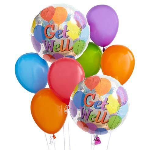 Get Well Soon Balloon Bouquet At Send Flowers Get Well Balloons Balloon Bouquet Get Well