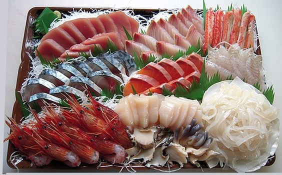 Sashimi :  (Raw Sliced Fish, Shellfish or Crustaceans)