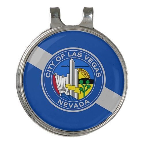 Golf Hat Clip And Ball Marker Flag Of Las Vegas Zazzle Com Ball Markers Personalized Golf Ball Marker Golf Hats