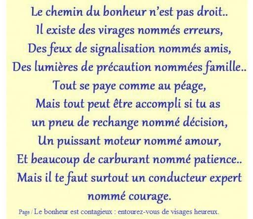Le Chemin Du Bonheur Citation Dictons Et Citations