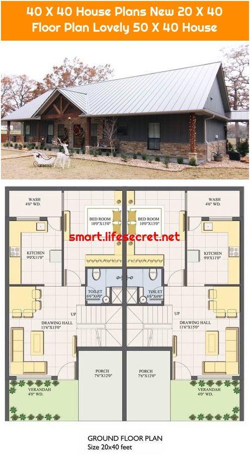 40 X 40 House Plans New 20 X 40 Floor Plan Lovely 50 X 40 House Floor Plans House Plans House Wash