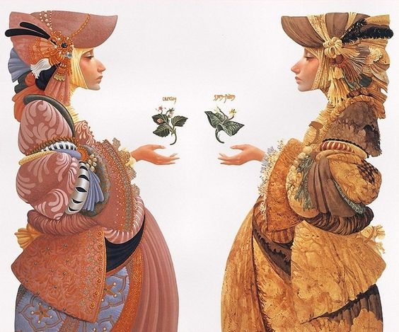 James C. Christensen - Two Sisters