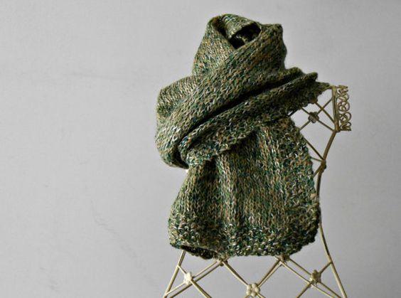 Herren Leinen Tweed Schal Grunge moss green von cosediisa auf Etsy