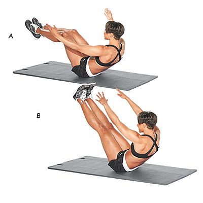 Core exercises health and middle on pinterest for Floor exercises for abs