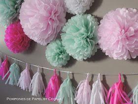 Pompones de Papel: Pompones & Guirnaldas